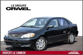 Used 2004 Toyota Corolla CE - Abs - Cd - Jamais accidenté ! for sale in Ile-des-Soeurs, QC