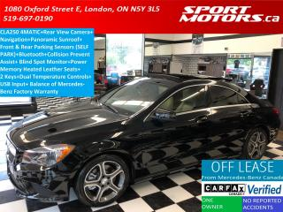 Used 2015 Mercedes-Benz CLA-Class CLA 250 4MATIC+Camera+GPS+Blind Spot+PANO SunRoof for sale in London, ON