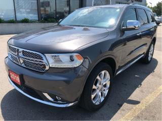 Used 2018 Dodge Durango Citadel 4x4 V6 w/Tech Pack, Tow Pack, Navi, Sunroo for sale in Hamilton, ON