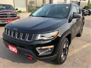 Used 2018 Jeep Compass Trailhawk 4x4 w/Leather, Sunroof, Navi for sale in Hamilton, ON