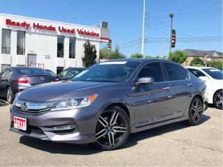 Used 2016 Honda Accord Sedan Sport - Sunroof - Lane watch - Rear Camera for sale in Mississauga, ON