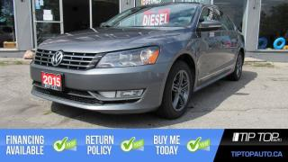 Used 2015 Volkswagen Passat 2.0 TDI Comfortline ** Clean CarFax, Leather, Sunr for sale in Bowmanville, ON