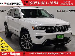 Used 2018 Jeep Grand Cherokee Limited| 4X4| NAVI| SUNROOF| LEATHER| for sale in Burlington, ON