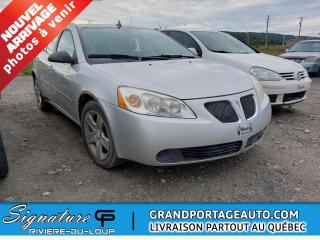 Used 2009 Pontiac G6 Berline SE 4 portes for sale in Rivière-Du-Loup, QC