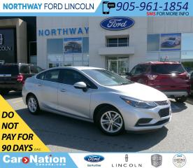 Used 2017 Chevrolet Cruze LT | HTD SEATS | BACK UP CAM | TOUCHSCREEN | for sale in Brantford, ON