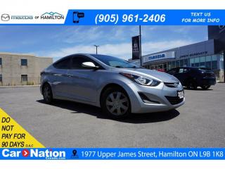 Used 2016 Hyundai Elantra GL for sale in Hamilton, ON