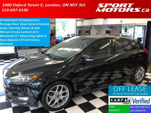 2015 Ford Focus SE W/Appearance PKG+Bluetooth+Camera+Heated Seats