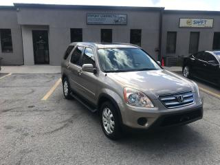 Used 2006 Honda CR-V 4WD EX-L ,LEATHER, SUNROOF,NO RUST ! for sale in Burlington, ON