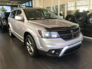 Used 2015 Dodge Journey CROSSRD, POWER HEATED LEATHER SEATS, KEYLESS IGNITION, NAVI for sale in Edmonton, AB