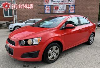 Used 2014 Chevrolet Sonic LS/SAFETY INCLUDED for sale in Cambridge, ON