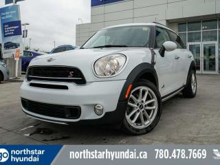 Used 2015 MINI Cooper Countryman S AWD/MANUAL/LEATHER/PANOROOF/NAV/BACKUPCAM for sale in Edmonton, AB