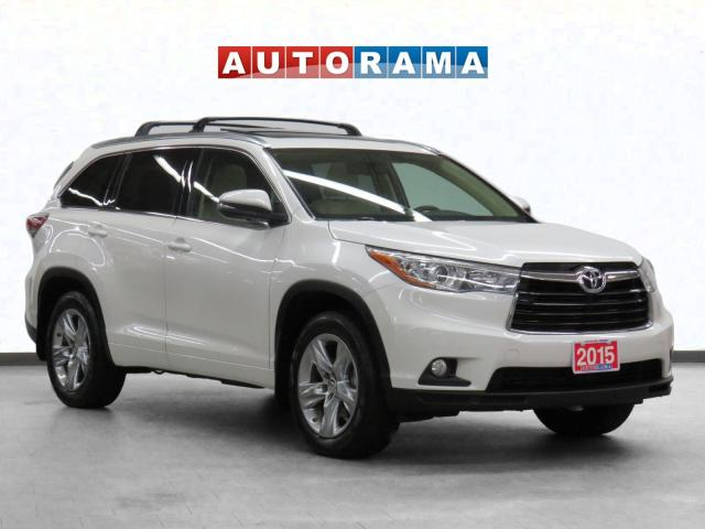 2015 Toyota Highlander Limited 4WD Navigation Leather PSunroof BCam 7Pass
