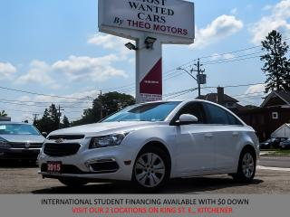Used 2015 Chevrolet Cruze 1LT 1.4L TURBO | CAMERA | BLUETOOTH for sale in Kitchener, ON