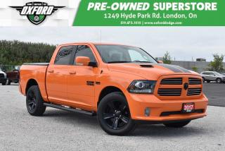 Used 2017 RAM 1500 Sport - One Owner, Tonneau Cover, Remote Start for sale in London, ON