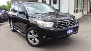 Used 2008 Toyota Highlander Sport 4WD 2008 Toyota Highlander Sport 4WD - LEATHER! SUNROOF! BACK-UP CAM! 7 PASS! for sale in Kitchener, ON