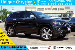 Used 2015 Jeep Grand Cherokee LIMITED| 4X4| SUNROOF| NAV| LEATHER & MORE for sale in Burlington, ON