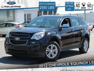 Used 2012 Chevrolet Equinox LS AWD**CRUISE*VITRES*A/C*GR. ELECTRIQUE** for sale in Victoriaville, QC