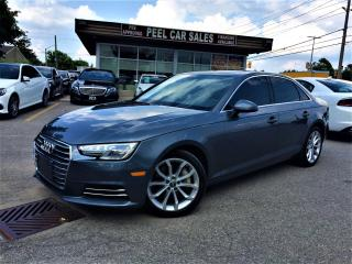 Used 2017 Audi A4 PROGRESSIVE|SUNROOF|NAVI|REARVIEW|GREYONBLCK for sale in Mississauga, ON