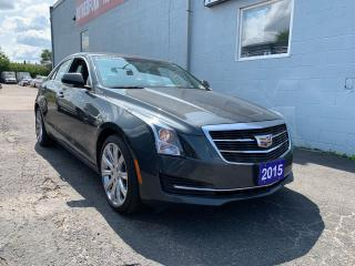 Used 2015 Cadillac ATS Luxury AWD SUNROOF ACCIDENT FREE CLEAN CAR FAX for sale in Brampton, ON