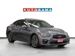 Used 2015 Infiniti Q50 S V6 4WD Navigation Leather Sunroof Backup Cam for sale in Toronto, ON