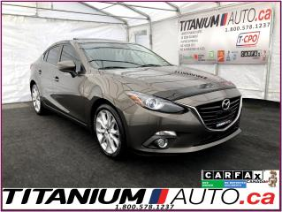 Used 2015 Mazda MAZDA3 GT+GPS+Camera+Leather+Sunroof+HUD+HID Lights+Alloy for sale in London, ON