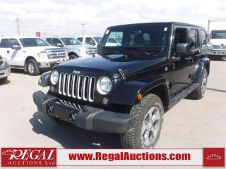 Used 2018 Jeep Wrangler JK Unlimited Sahara 4D Utility 4WD 3.6L for sale in Calgary, AB