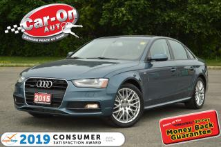 Used 2015 Audi A4 2.0T S LINE AWD LEATHER SUNROOF HTD SEATS for sale in Ottawa, ON