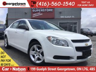 Used 2012 Chevrolet Malibu LS | ONLY 66, 816KMS | ALLOY WHEELS | 2.4L 4CYL for sale in Georgetown, ON
