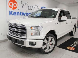 Used 2016 Ford F-150 Limited 4x4, NAV, sunroof, heated/cooled power leather seats, heated rear seats, heated steering wheel, back up cam for sale in Edmonton, AB