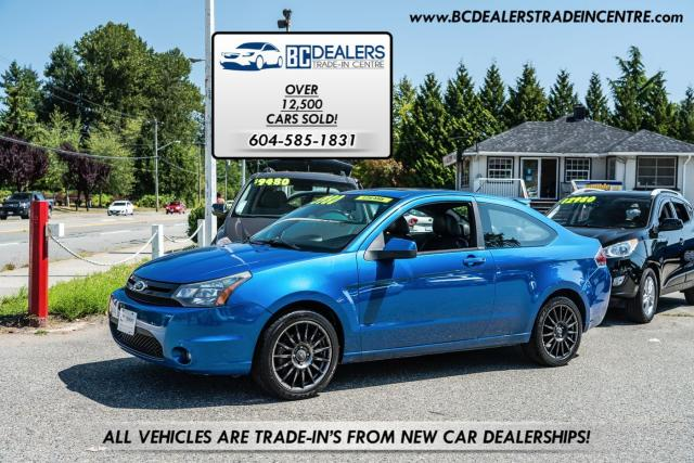 2010 Ford Focus SES COUPE, Rare! Bluetooth, Leather, Sunroof!