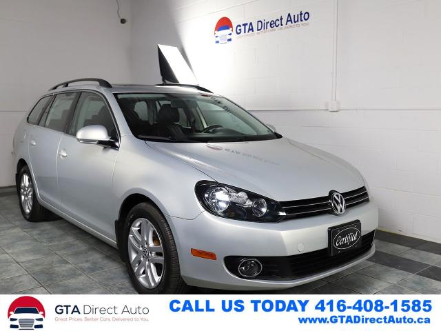 2011 Volkswagen Golf Wagon HIGHLINE Nav Panoroof DSG Leather Heated Certified