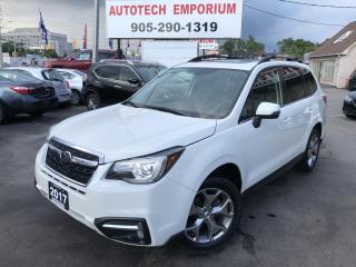 Used 2017 Subaru Forester Prl White 2.5i Limited Navigation/Htd Leather/Pano Sunroof/Cam for sale in Mississauga, ON