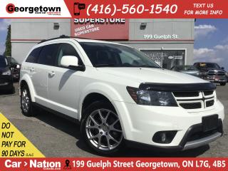 Used 2014 Dodge Journey R/T   AWD   V6  7 PASS LEATHER SUNROOF DVD  NAVI for sale in Georgetown, ON