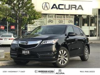 Used 2015 Acura MDX Tech at SH-AWD, Navi, Rear Entertainment for sale in Markham, ON