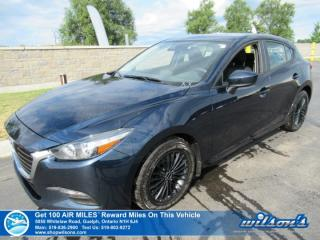 Used 2018 Mazda MAZDA3 Sport GX Hatchback - Cruise Control, Alloy Wheels, Steering Radio Controls, Power Package and more! for sale in Guelph, ON