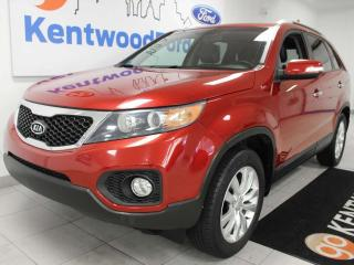 Used 2011 Kia Sorento EX V6 FWD with heated power leather seats and a back up cam for sale in Edmonton, AB