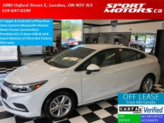 Used 2018 Chevrolet Cruze LT+Apple & Android Play+Heated Seats+Camera+USB for sale in London, ON