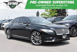 Used 2017 Lincoln Continental Reserve - Low Kms, GPS, Sunroof for sale in London, ON