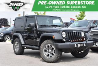 Used 2016 Jeep Wrangler Sport - Rubicon Wheels & Tires, Low Kms, Dual Tops for sale in London, ON