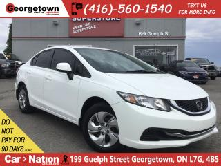 Used 2013 Honda Civic EX | AUTO | TINTS | ONLY 68,599KMS | BU CAM for sale in Georgetown, ON