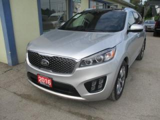 Used 2016 Kia Sorento ALL-WHEEL DRIVE SX MODEL 7 PASSENGER 3.3L - V6.. BENCH & 3RD ROW.. NAVIGATION.. LEATHER.. HEATED/AC SEATS.. PANORAMIC SUNROOF.. for sale in Bradford, ON