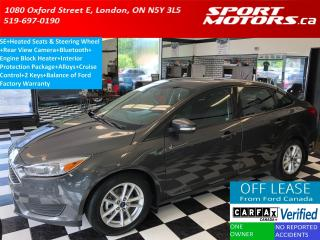 Used 2015 Ford Focus SE+Camera+Heated Seats & Steering+Bluetooth+A/C for sale in London, ON