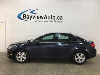 Used 2015 Chevrolet Cruze 2LT - TURBO! 48,000KMS! HTD LEATHER! SUNROOF! AUTO! BIG SCREEN! for sale in Belleville, ON