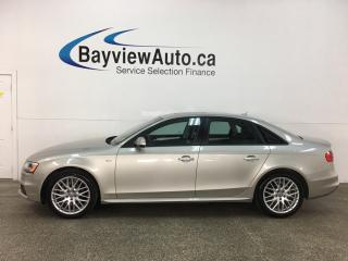 Used 2015 Audi A4 2.0T Komfort - AWD! HTD LEATHER! SUNROOF! ONLY 36,000KMS! for sale in Belleville, ON