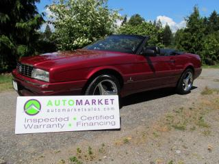 Used 1993 Cadillac Allante LOCAL, GORGEOUS, BCAA MBSHP, WARRANTY for sale in Surrey, BC