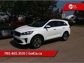 Used 2019 Kia Sorento EX PREMIUM V6; AWD, LEATHER, PANO ROOF, PUSH START, 7 PASS, HEATED SEATS/WHEEL, BACKUP CAMERA, BLIND-SPOT/CROSS TRAFFIC ALERT, ANDROID AUTO/APPLE CAR PLAY for sale in Edmonton, AB