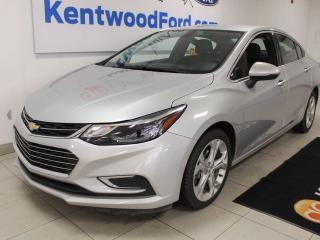 Used 2018 Chevrolet Cruze PREM FWD with power heated leather seats, auto start/stop and back up cam for sale in Edmonton, AB