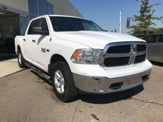 Used 2016 RAM 1500 SLT 4X4 CREW CAB, ACCIDENT FREE, POWER SEATS, DIGITAL COMPASS, BACK-UP CAMERA for sale in Edmonton, AB