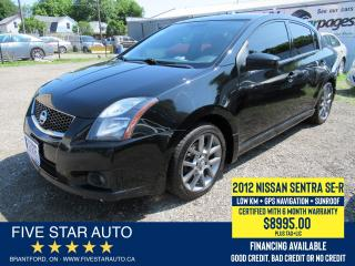Used 2012 Nissan Sentra SE-R *1 Owner* Certified w/ 6 Month Warranty for sale in Brantford, ON