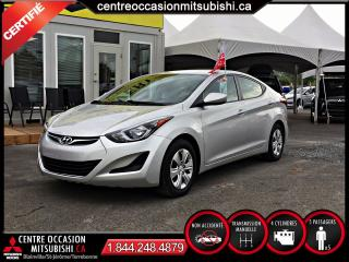 Used 2016 Hyundai Elantra 8 pneus JAMAIS ACCIDENTE for sale in Blainville, QC